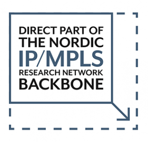 Direct part of the nordic IP/MPLS research network backbone