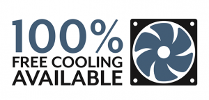 100% Free cooling available