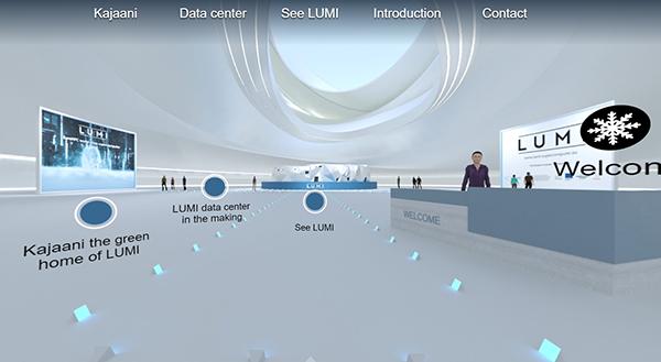 Main interface of the virtual showroom